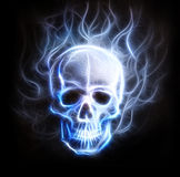 Skull fractal ornament background Stock Image