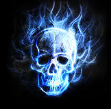 Skull fractal ornament background crackle desert effect. Royalty Free Stock Photo