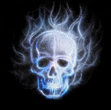 Skull fractal ornament background mozaika Stock Photos