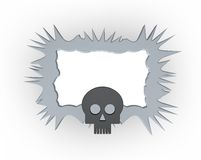Skull frame Royalty Free Stock Photos