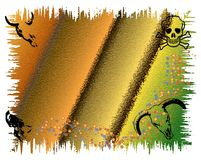 Skull frame. Abstract colored background with human and cattle skulls Royalty Free Stock Photography