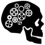 Skull with Gears Clipart Royalty Free Stock Photo