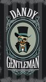 Skull gentleman in the cylinder in a frame Royalty Free Stock Image