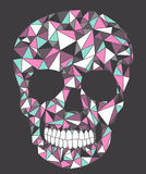Skull with geometric pattern. Royalty Free Stock Images