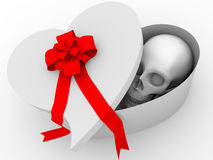 Skull gift Royalty Free Stock Image