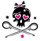 Skull, girlie Royalty Free Stock Photos