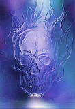 Skull. glass and fractal effect. Color abstract background. Skull. glass and fractal effect. Color abstract background royalty free illustration
