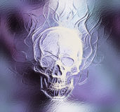 Skull. glass and fractal effect. Color abstract Royalty Free Stock Photos