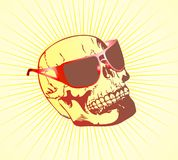 Skull in glasses Royalty Free Stock Images