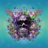 Skull with glasses, art Stock Image