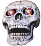 Skull with glowing eyes. Skull with glowing globe-eyes Royalty Free Stock Photography