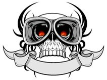 Skull with goggle Stock Photos