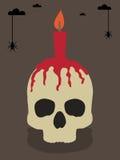 Skull greeting card Royalty Free Stock Photo