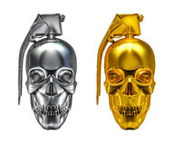 Skull grenade Stock Image