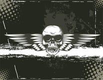 Skull with grunge background Stock Photo