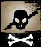Skull on grunge background. Vector Stock Photo