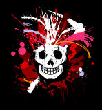 Skull grunge design for t-shirt Stock Photos