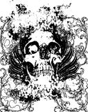 Skull grunge illustration Stock Photo