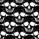 Skull grunge seamless pattern Stock Photos