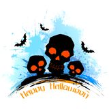 Skull in grungy Halloween Background. Illustration of scary skull in grungy Halloween background Royalty Free Stock Photo