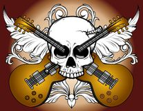 Skull and Guitars Royalty Free Stock Photo
