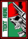 Skull with gun iluustration vector vector illustration