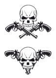 Skull with guns Royalty Free Stock Photography