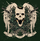 Skull and guns vector Stock Photography