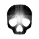 Skull Halftone Dotted Icon royalty free illustration