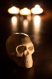 Skull, halloween background Royalty Free Stock Photo