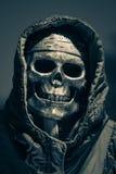 Skull in halloween stock photos