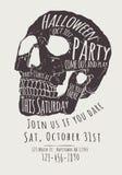 Skull Halloween Party Invitation Flyer Stock Photo