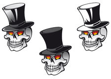 Skull in hat Stock Photography