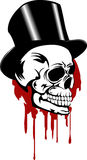 Skull and hat. Vector illustration skull and hat format EPS8 Stock Photography