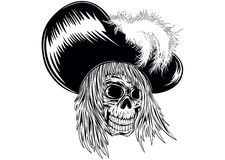 Skull in hat Royalty Free Stock Image