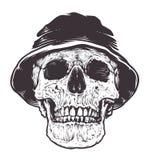 Skull in Hat Stock Image