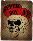 Skull Hat Man T shirt Graphic Design Stock Image