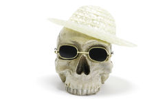 SKull with Hat and Sunglasses Stock Photography