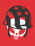 Skull with Hat Vector Design Clipart Stock Photos