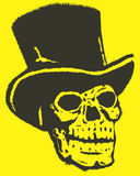 Skull with Hat Vector Design Clipart Royalty Free Stock Photos