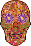 Skull Head. A  illustration of a skull celebrating The Day of The Dead Stock Image