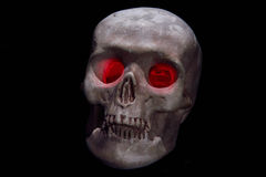 Skull head with red eyes Royalty Free Stock Photo