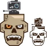 Skull headcam vector Stock Photo