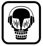 Skull in headphones Royalty Free Stock Photos