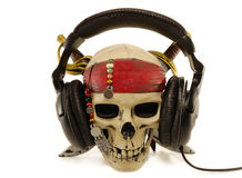 Skull headphones Stock Photo