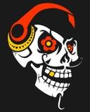 Skull With Headphones Royalty Free Stock Photos