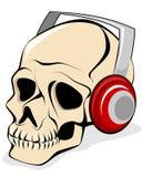 Skull in headphones Royalty Free Stock Photography
