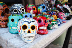Skull heads in a shop Royalty Free Stock Image