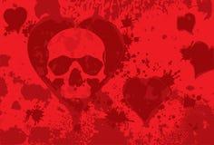 Skull heart Royalty Free Stock Images