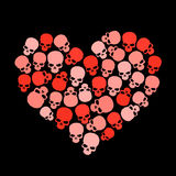 Skull heart for valentine�s day Royalty Free Stock Photo